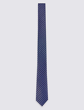 Striped Tie & Pocket Square Set