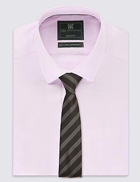 Pindot Striped Tie