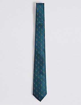 Palm Tree Tie, TEAL MIX, catlanding
