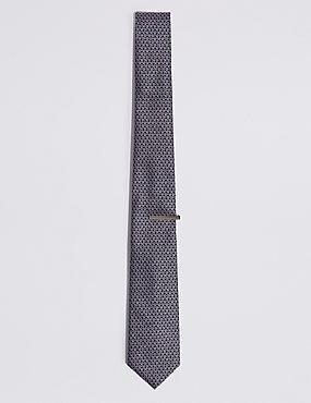 Spectacles Design Tie & Pin Set, PINK MIX, catlanding