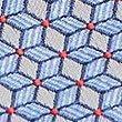 Geometric Print Tie, BLUE MIX, swatch