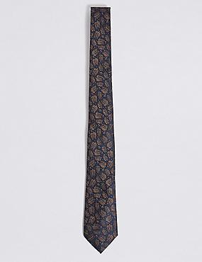 Fern Convo Novelty Tie, PRALINE, catlanding