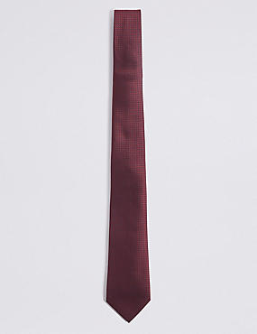 Textured Tie, BURGUNDY, catlanding
