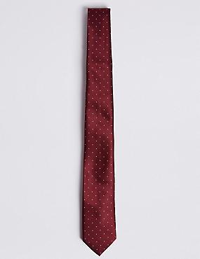 Spotted Tie, BURGUNDY, catlanding