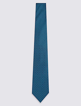Pure Silk Spotted Textured Tie