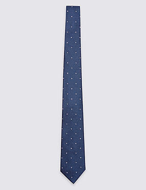 Pure Silk Textured Spotted Tie