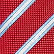 Pure Silk Striped Tie, RED MIX, swatch