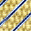 Pure Silk Striped Tie, YELLOW, swatch