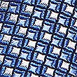 Pure Silk Textured Tie & Pocket Square Set, BLUE MIX, swatch