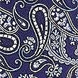 Pure Silk Paisley Tie, BLUE MIX, swatch