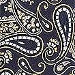 Pure Silk Paisley Tie, YELLOW MIX, swatch