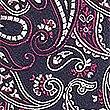 Pure Silk Paisley Tie, BURGUNDY MIX, swatch