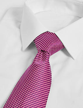 Longer Length Silk Rich Textured Tie