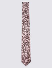 Pure Silk Textured Floral Tie
