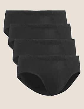 4 Pack Pure Cotton Cool & Fresh™ Assorted Slips, BLACK, catlanding