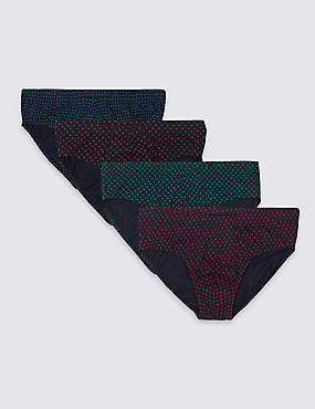 4 Pack Pure Cotton Geometric Print Slips