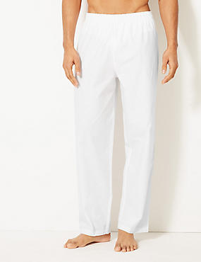 Pure Cotton Woven Pant, WHITE, catlanding