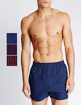 Pure Cotton Easy to Iron Checked Boxers