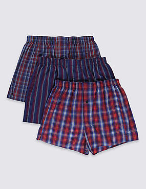 3 Pack Pure Cotton Easy to Iron Boxers