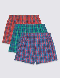 3 Packs Pure Cotton Boxers