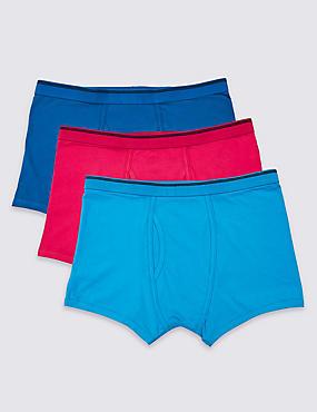 3 Pack Cool & Fresh™ Stretch Cotton Trunks, MULTI/BRIGHTS, catlanding