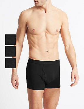 3 Pack Cool & Fresh™ Stretch Cotton Trunks