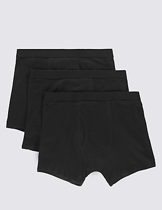 3 Pack Pure Cotton Cool & Fresh™ Trunks Clothing