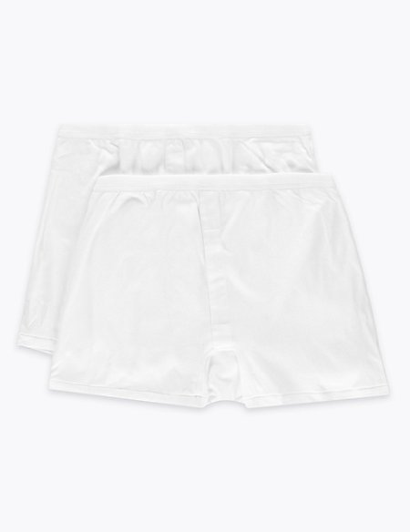 2 Pack Pure Cotton Trunks with StayNEW™