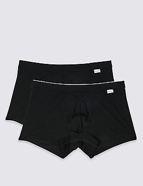 2 Pack Cotton Blend Hipsters, BLACK, catlanding