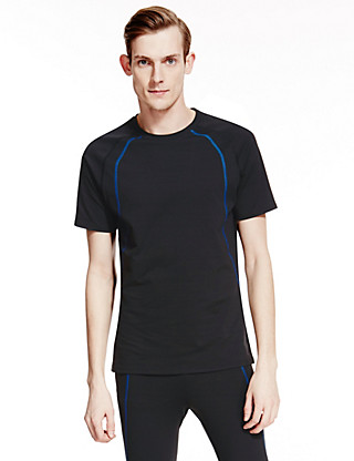 Active Contrast Stitched Top Clothing