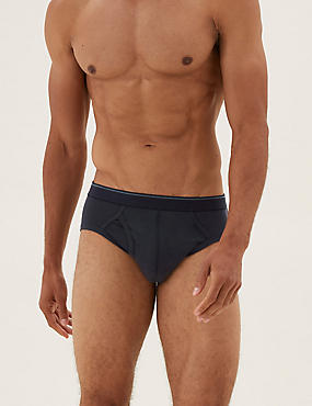 10 Pack Cool & Fresh™ Stretch Cotton Rich Briefs, NAVY MIX, catlanding