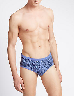 3 Pack Pure Cotton Assorted Briefs with StayNEW™