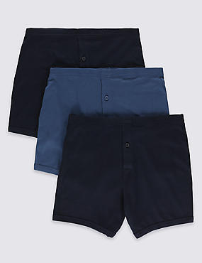 3 Pack Pure Cotton Trunks