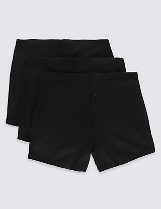 3 Pack Pure Cotton Trunks with StayNEW™ Clothing