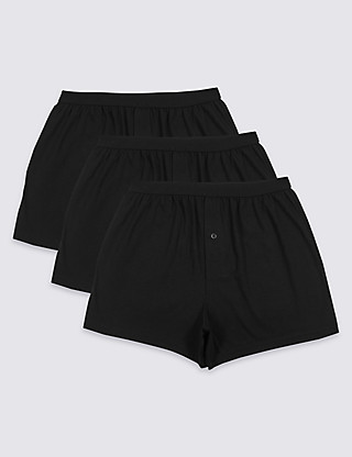 3 Pack Pure Cotton Cool & Fresh™ Boxers Clothing