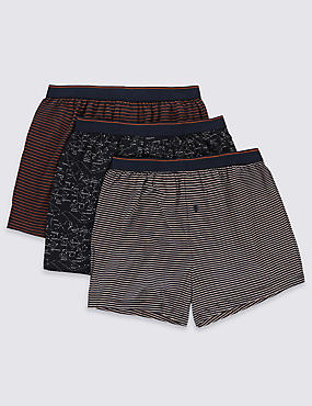 3 Pack of Cool & Fresh™ Pure Cotton Boxers with Silver Technology