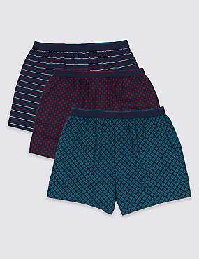 3 Pack Pure Cotton Cool & Fresh™ Boxers