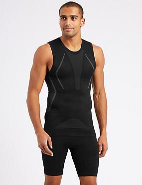 Active Sleeveless Vest, BLACK, catlanding