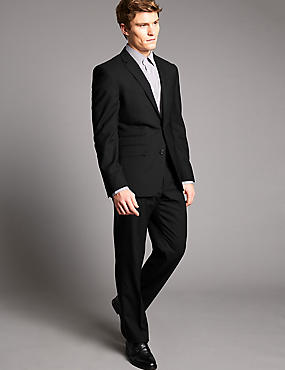 Black Tailored Fit Suit with Waistcoat