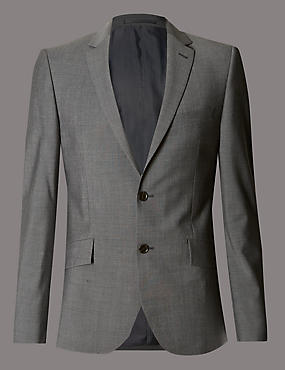 Grey Slim Fit Suit Including Waistcoat