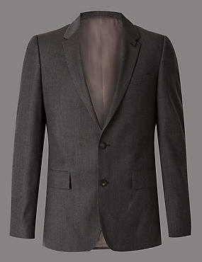 Textured Slim Fit Suit