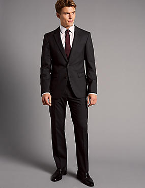 Charcoal Slim Fit Italian Wool Suit