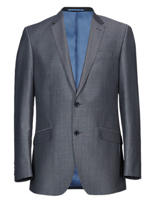 Grey Tailored Fit 2 Button Jacket Clothing