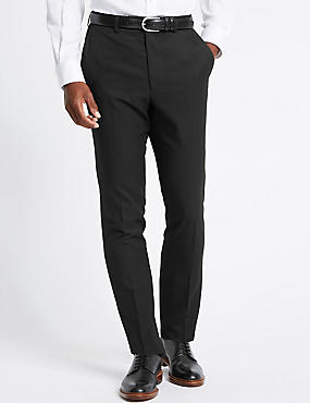 Big & Tall Black Regular Fit Trousers, BLACK, catlanding
