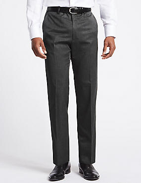 Big & Tall Grey Regular Fit Trousers