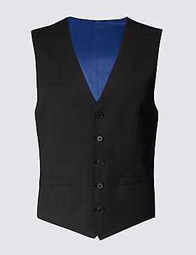 Charcoal Regular Fit 5 Button Waistcoat