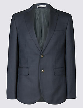 Indigo Textured Modern Slim Fit Suit