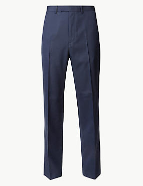 Indigo Textured Regular Fit Trousers