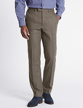 Wool Blend Trouser with Italian Fabric