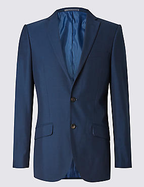 Indigo Tailored Fit Suit Including Waistcoat